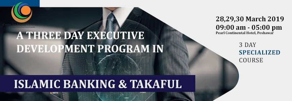 a three days program cie - ISLAMIC BANKING AND TAKAFUL