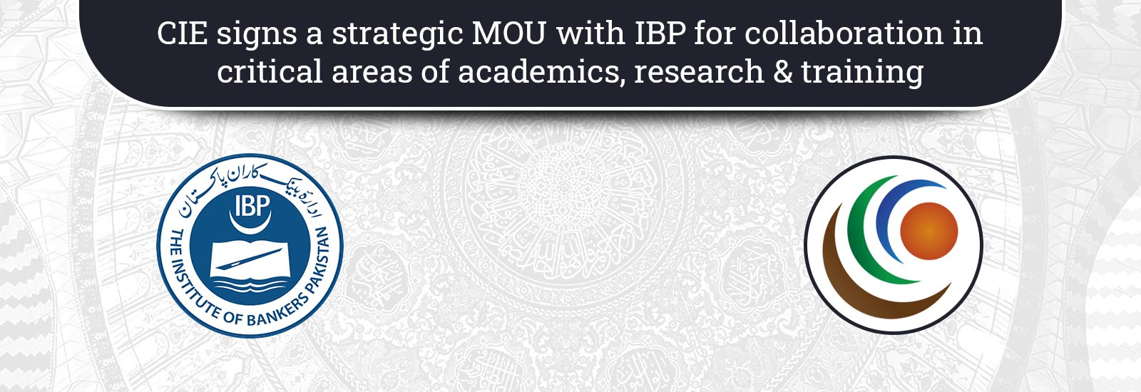 CIE signs a strategic MOU with IBP for collaboration